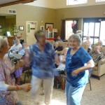 Ladies dancing extemporaneously