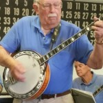 Club President Jack Starr leads the charge of the banjos